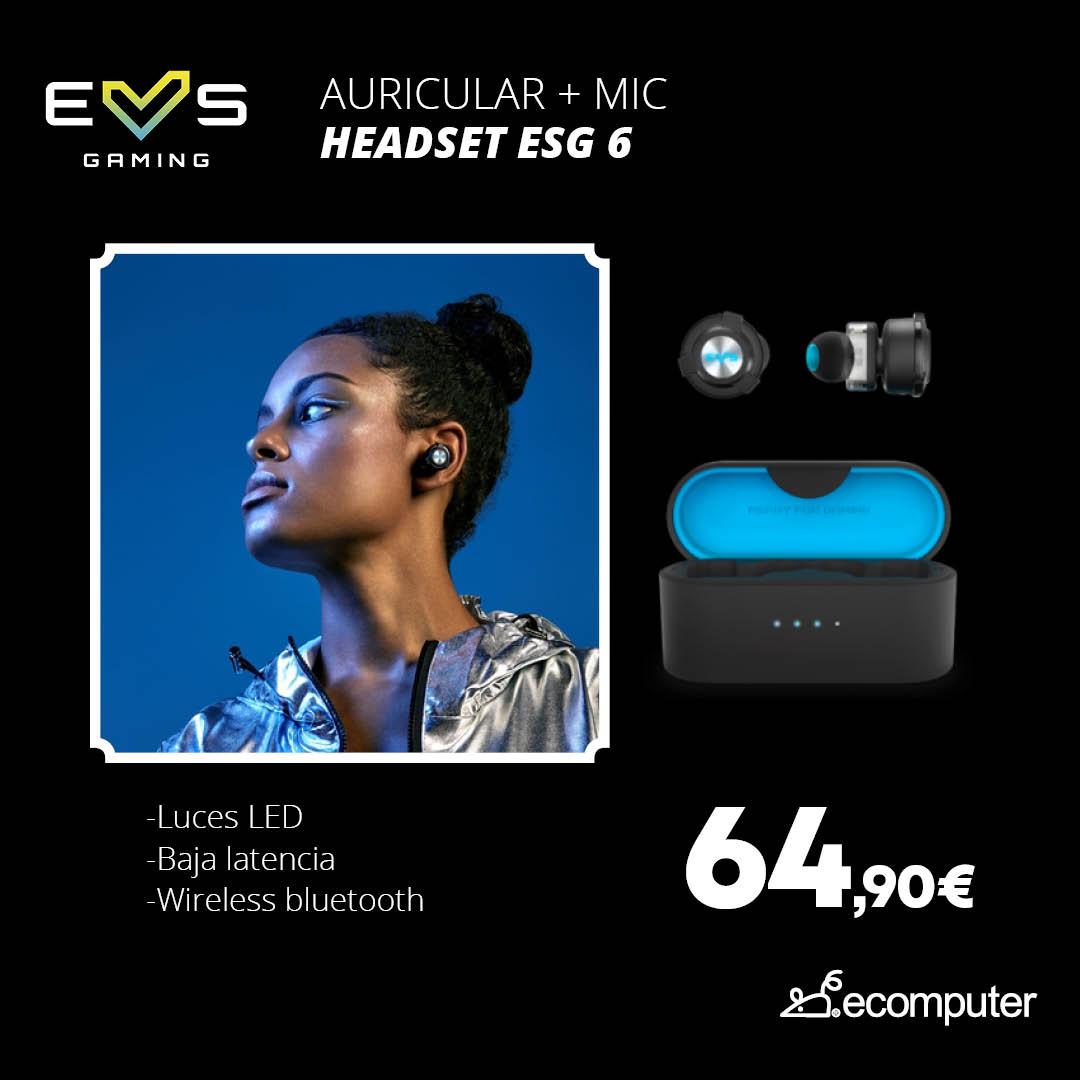 Auricular + mic headset ESG6