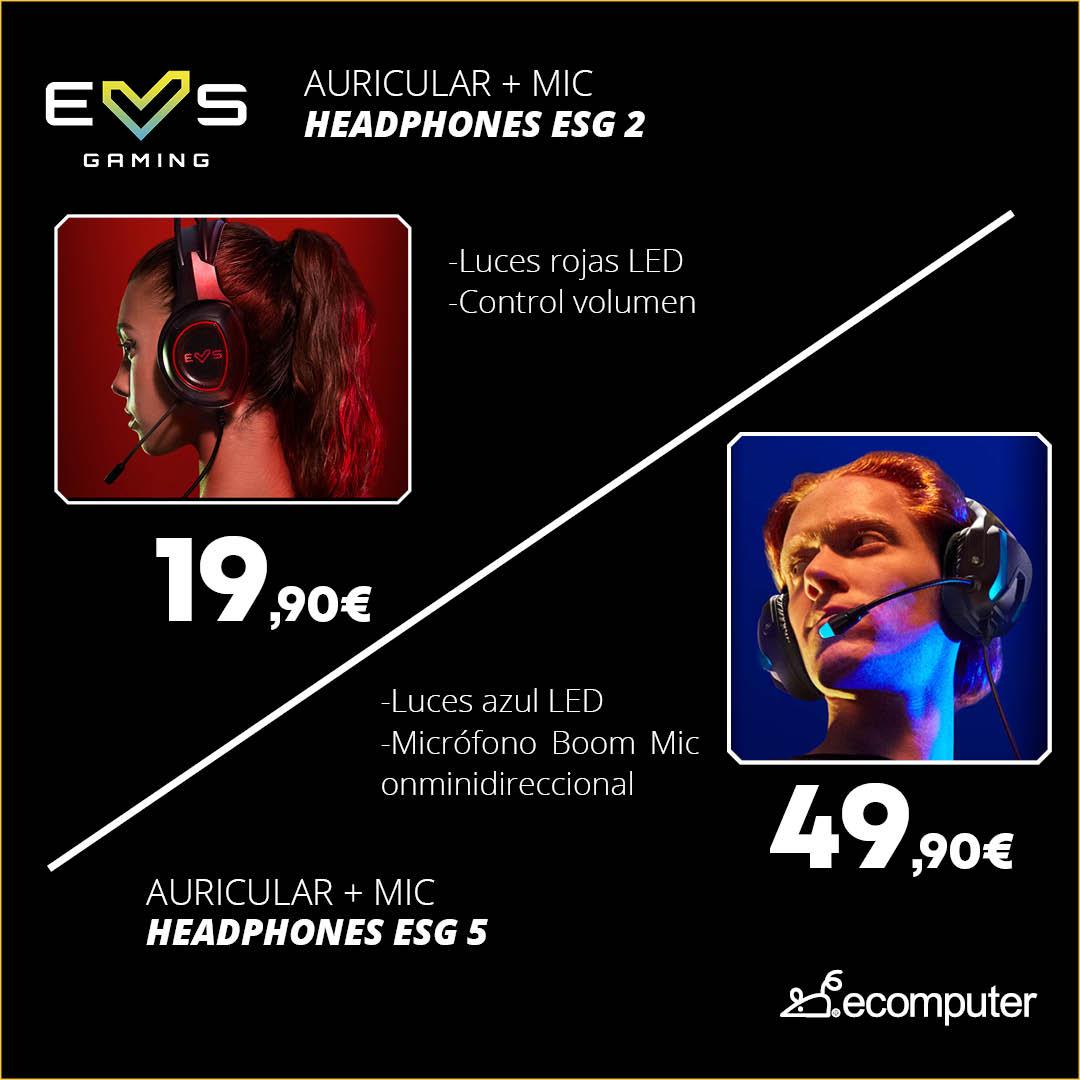 Auriculares + Mic Headphones ESG2 y ESG 5