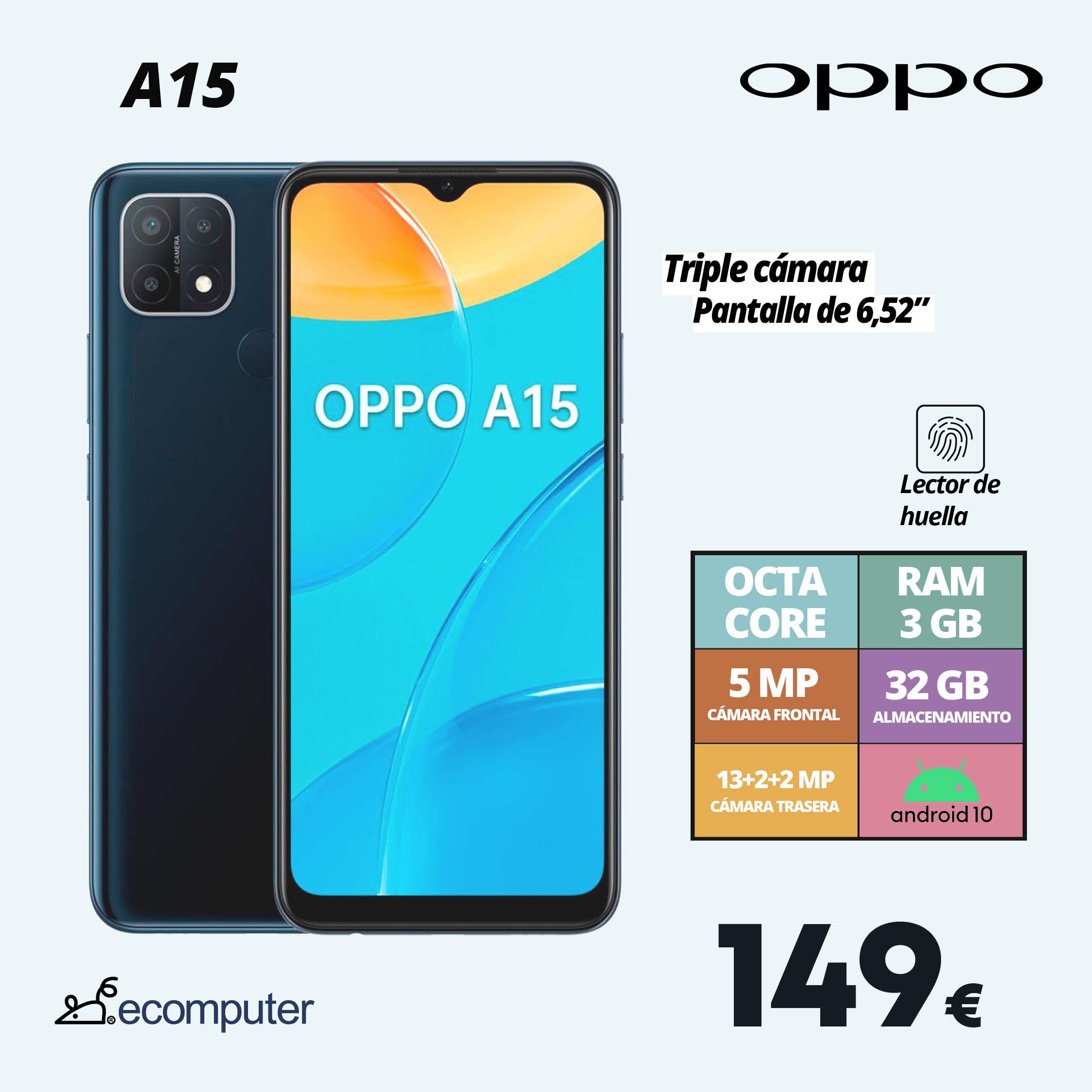 Oppo A15 smartphone