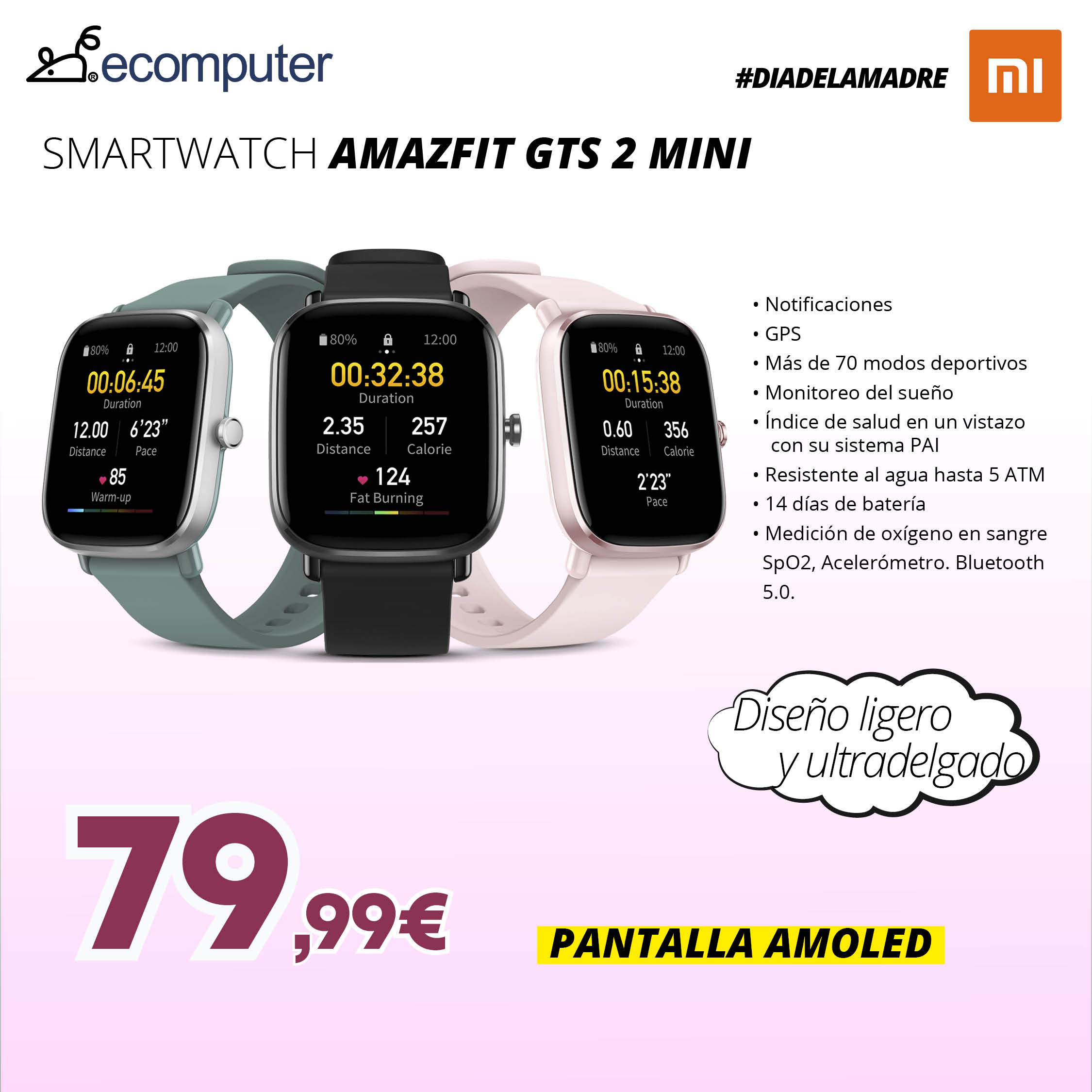 smartwatch amazfit gts mini