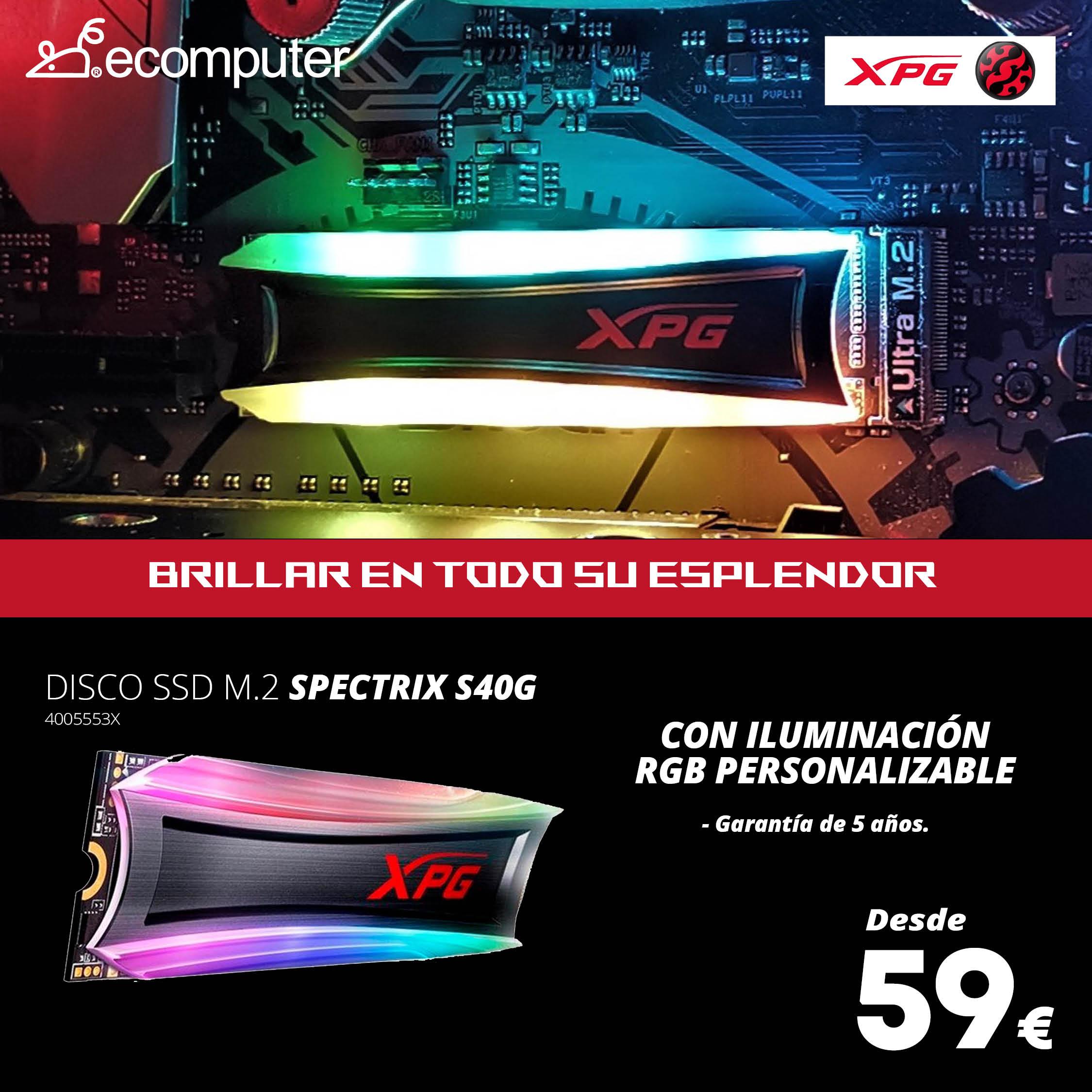 disco SSD M.2 SPECTRIX S40G