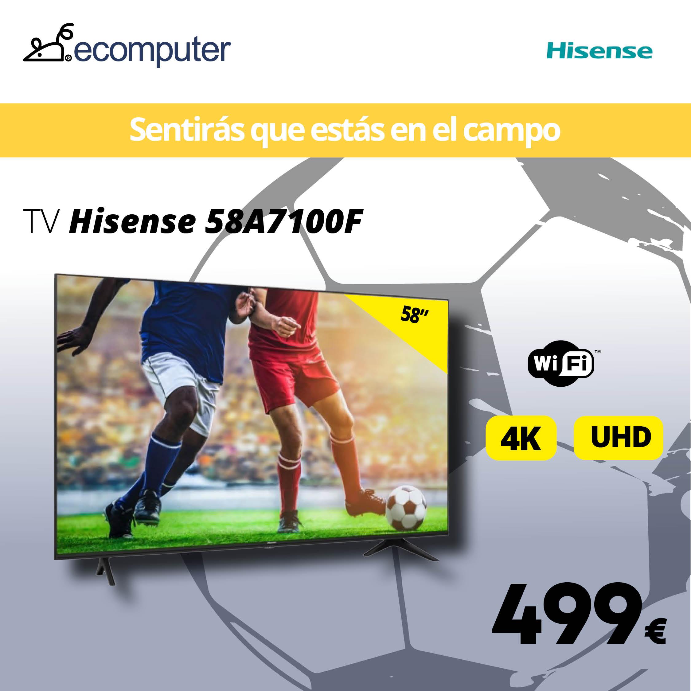 """TV 58"""" 587100F de Hisense"""