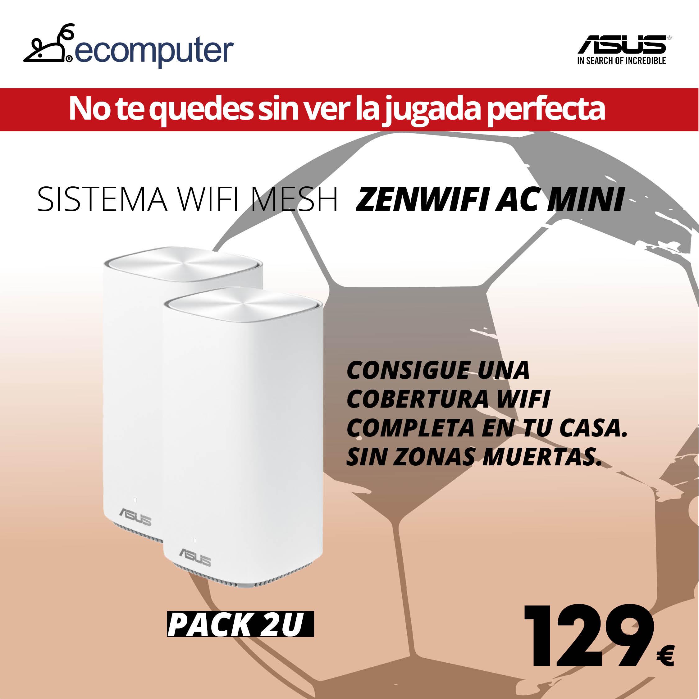 Sistema Wifi Mesh Zenwifi AC mini de Asus